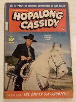 Hopalong Cassidy #50 Comic Book Fawcett Western Photo Cover William Boyd!!!!