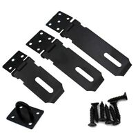 Heavy Duty Hasp and Staple for Sheds and Garden Gates in Black With Screws