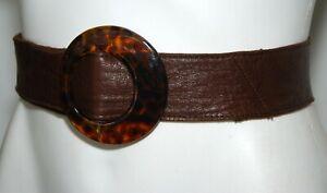 WITCHERY Dark Brown Genuine Leather Women's Waist Belt Size Small/Medium