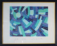 Undeutlich signiert (1994). Handsignierter und nummerierter Siebdruck mit Rahmen