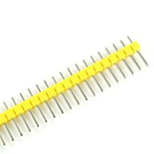 10 x 40 Pin Stiftleiste 11mm einreihig GELB (2.54mm Single Row Header Strip)