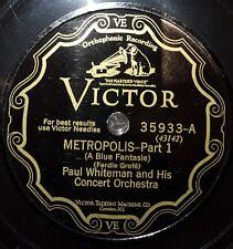 JAZZ 2 x 78 rpm RECORD Victor PAUL WHITEMAN Concert Orchestra METROPOLIS Grofe