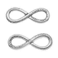 Antiqued Silver Plated Lead-Free Pewter Infinity Connector Link 12x31.5mm (2)