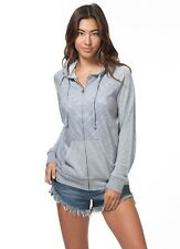 NEW RIP CURL SURF TRIBE ZIP UP GREY SWEATER JACKET HOODED S SMALL QQ70 RP$59.5