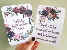 Fertility Affirmation Cards empower journey encourage positive thinking IVF