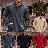 Men's Hooded Hoodie Sweatshirt Coat  Outwear Sweater Jumper Loose Pullover Tops