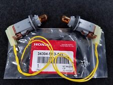 NEW GENUINE HONDA S2000 CR SIDE MARKER LAMP SOCKETS WITH AMBER BULBS & PIGTAILS