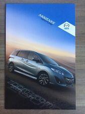 MAZDA 5 VENTURE SPECIAL EDITION 2012 RANGE CAR BROCHURE MPV MAV 2.0i 1.6 DIESEL