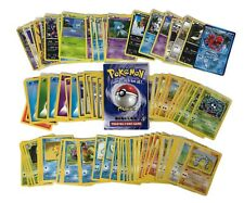 Vintage POKEMON 90s 2000s CARD GAME Lot of 102 Collection Played Trainer Basic