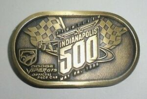 1996 INDIANAPOLIS 500-DODGE VIPER GTS OFFICIAL PACE CAR Belt Buckle