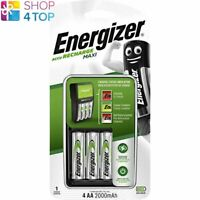 ENERGIZER RECHARGE MAXI CHARGER FOR AAA AA BATTERIES & 4 AA 2000mAh BATTERIES