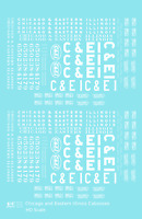 K4 HO Decals Chicago and Eastern Illinois C&EI Caboose White