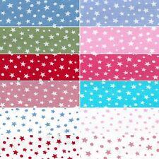 100% Cotton Poplin Fabric By Fabric Freedom Starry Sky Stars Polka Dots Spots
