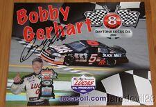 2014 Bobby Gerhart signed Lucas Oil Chevy Monte Carlo ARCA postcard
