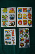 Lot of vintage stickers phrases sayings gift tages badge medal Happy Birthday