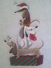 Dachshund DOG STACK NEW SET OF 2 BATH HAND TOWELS EMBROIDERED