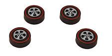 4 Brightvision Redline Wheels – 4 Medium Bright Chrome Cap Style Wheels