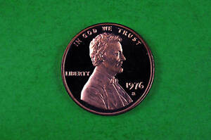 1976-S   Cameo Lincoln Penny US Gem Proof Coin