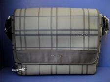 NWT Coach Men Tattersall Messenger / Crossbody Bag 70750 Multi Silver/Grey Multi