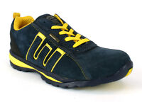 Navy Steel Toe Cap Safety Mens Trainers Shoes Groundwork Size UK3-13