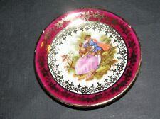 Vintage Limoges Fragonard Courting Couple Trinket Dish