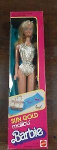 NEW IN BOX 1983 Sun Gold Malibu Barbie