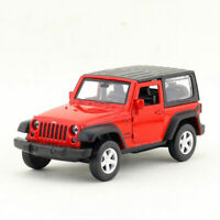 1:42 Jeep Wrangler SUV Model Car Alloy Diecast Gift Toy Vehicle Red Pull Back