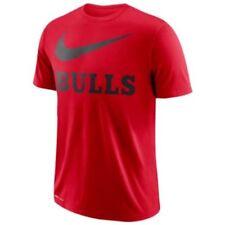 Nike Chicago Bulls Dry Swoosh Red Men's Short Sleeve T-shirt 2XL Tee NBA