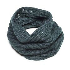 Nobis PICKLE HEAD Circular Neck SCARF Blue / Green Mocrylic AUTHENTIC Womens NEW