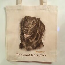 FLAT COATED RETRIEVER DOG TOTE SHOPPER REUSABLE BAG BY WAGGY DOGZ
