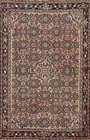 Vintage Geometric Traditional Hand-knotted Area Rug Wool Oriental Carpet 5x7 ft