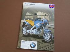 BMW F650CS Riders Manual Instruction manual