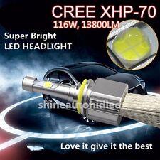 Auto Cree XHP 70 LED Headlight Kit Car Bulbs EMC driver H4 H7 H9 H11 9005/06/12