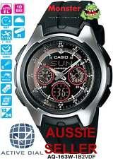 AUSSIE SELLER CASIO ACTIVE DIAL AQ-163W AQ-163W-1B2V AQ163 AQ163W1B2V