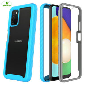 For Samsung Galaxy A21S A42 A52 A72 5G With Built in Screen Protector Case Cover