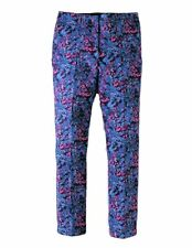 Boden WM357 Floral Straight Leg Chelsea Turn Up Trousers Pants Size US 14 L *