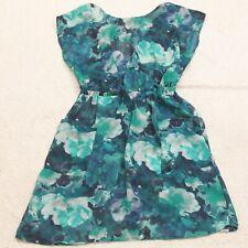 Xhilaration Blue White Floral Dress Women's Medium Sleeveless Polyester Woman's