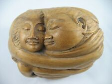 """Bali Indonesia Hand Carved Wood Sculpture Kama Sutra Romantic Man & Woman 5"""""""