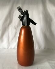 Vintage BOC Sparklets Soda Siphon - Orange Metalling Body. Perished Rubber Top