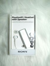 Sony Silver Bluetooth Headset With Speaker (Hands Free Talk and Camera Remote)