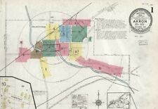 Akron, New York~Sanborn Map©~sheets~43 maps in full color made 1884 to 1923