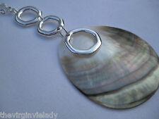 Virgin Vie 'SEA TREASURE'  Long Necklace Silver & Shell *NEW*