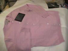 luxe superior new 100% cashmere SCOTT & SCOTT dove pink CARDIGAN med uk14 bnwt