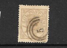 Denmark 1864 8sk Olive/Bistre Fu Sg 29