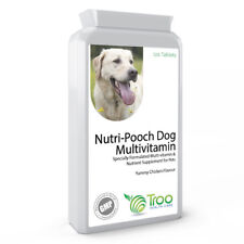 Nutri-Pooch Multi-vitamin for Dogs & Cats 120 Chicken Flavour Tablets inc A,C, E