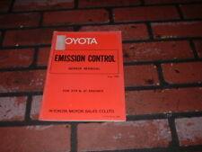 GENUINE TOYOTA EMISSION CONTROL REPAIR MANUAL. 1980