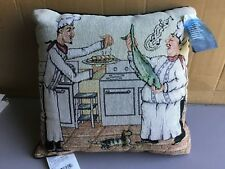 """USA Made NWT Chefs Dejour 17"""" x 17"""" Tapestry Throw Pillow #437"""