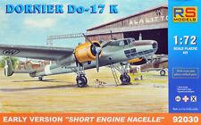 """Dornier Do 17K """"early"""" model kit 1/72 RS Models"""