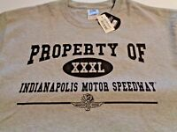 New Indianapolis Motor Speedway T-shirt Size XL Short Sleeve Gray Racing W/ Tag