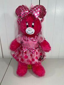 "💗 Build a Bear Downtown Disney Minnie Mouse Pink Bear 18"" w/ Dress & Veil 💗"